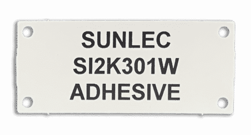 SI2K301W PMMA Adhesive Name Plate Tags